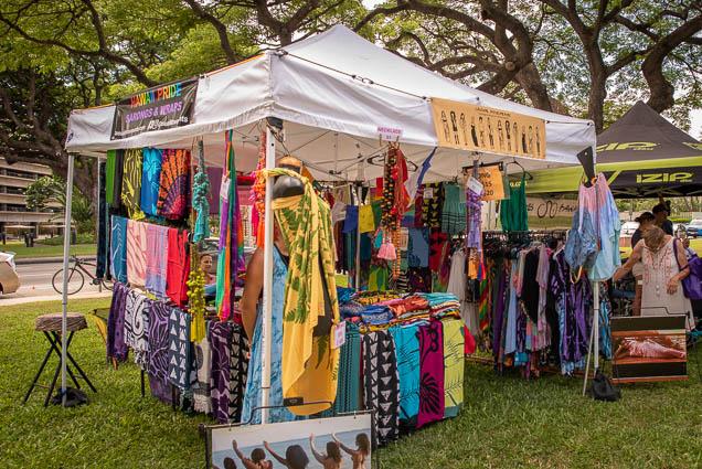 hawaii-pride-sarongs-wraps-fokopoint VegFest Oahu 2019