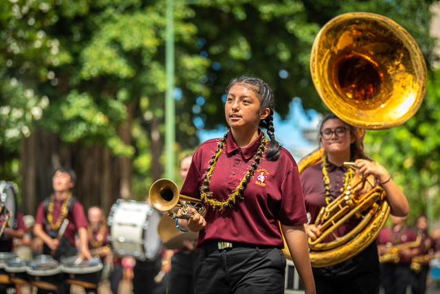 castle-high-school-band-floral-parade-2019-aloha-festivals-fokopoint-honolulu-9665 73rd Annual Floral Parade
