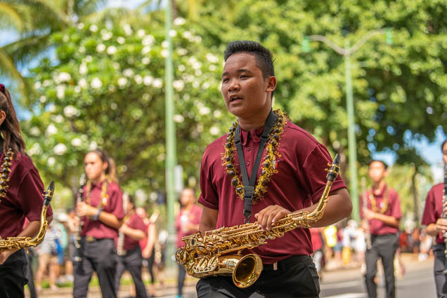 castle-high-school-band-floral-parade-2019-aloha-festivals-fokopoint-honolulu-9668 73rd Annual Floral Parade