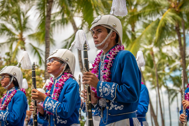 kamehameha-schools-marching-band-floral-parade-2019-aloha-festivals-fokopoint-honolulu-9795 73rd Annual Floral Parade