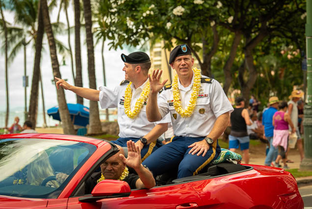 native-hawaiian-advisory-council-colonel-tom-barrett-csm-jeff-cereghino-army-floral-parade-2019-aloha-festivals-fokopoint-honolulu-9825 73rd Annual Floral Parade