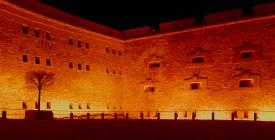 Eine der Festungsmauern.