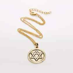 Colier Steaua lui David incadrata in cerc aurit