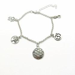 bratara multiple simboluri sacre din argint