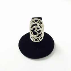 Inel cu simbolul OM din argint