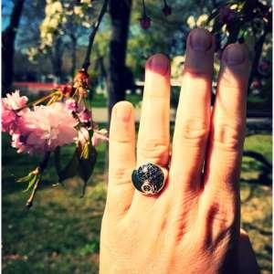 Inel Floarea Vietii Yin si Yang