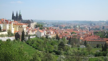 Prague Skyline, St Vitus Cathedral (left)