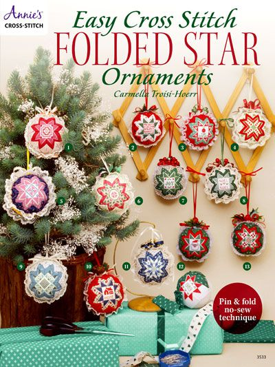 Easy Cross Stich Folded Star Ornaments Annie's
