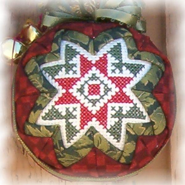 Green Corners Folded Star Ornament