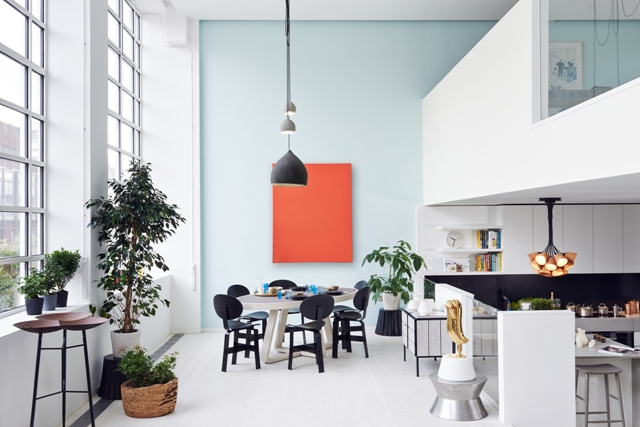 Dining room orange canvas