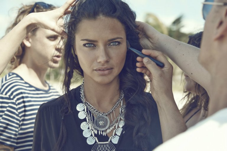 Adriana Lima Behind the Scenes H&M 2015 summer