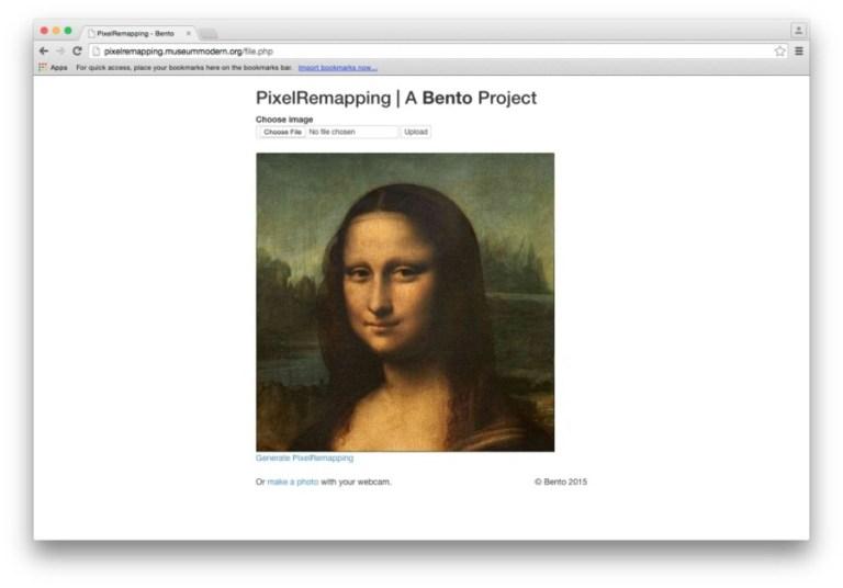 BENTO, Pixel Remapping, web art, 2015.