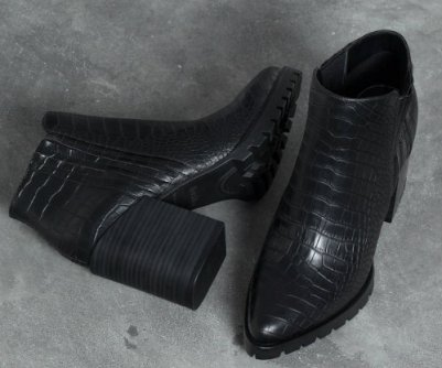embossed ankle boot with heel bsk 5290