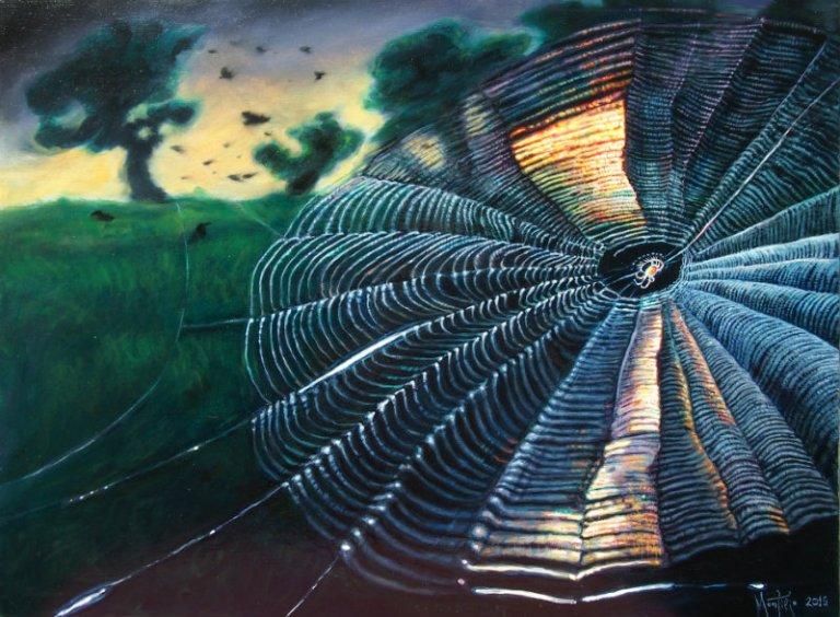 Paučina 55 x 40 cm oil on canvas 2015