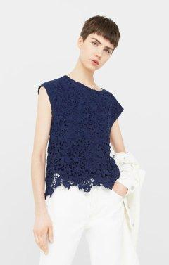 1990 Guipure blouse
