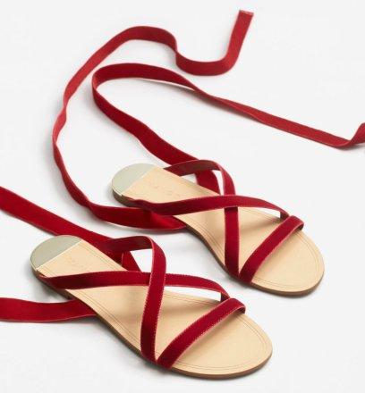1990 Velvet strappy sandals