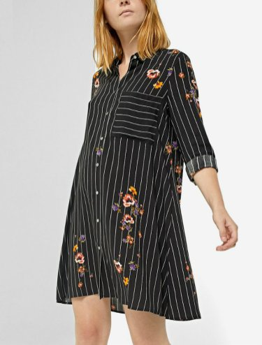 2490 strd Printed shirt dress with 3