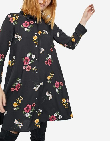 Printed shirt dress with 3.4 length sleeves str 2490