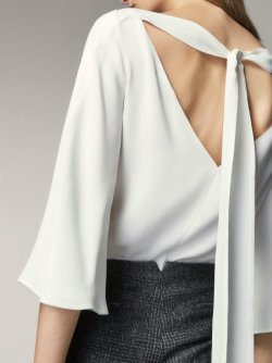 md TOP WITH BOW DETAIL 6290