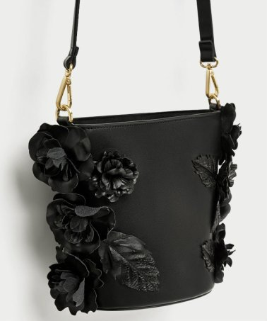 zara CROSSBODY BAG WITH FLORAL DETAIL 3990