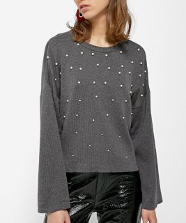 str Sweater with faux pearl beads 2490