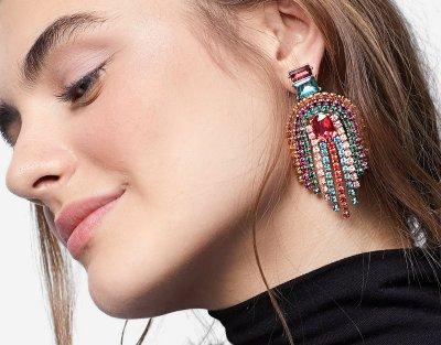 7 strd Multicoloured faux pearl earrings 899