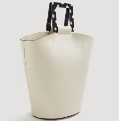 polka dot shopper bag mng 5490