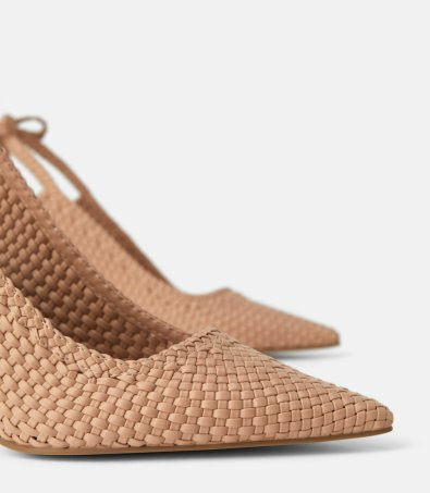 PLAITED HIGH HEEL SLINGBACK SHOES WITH BOW DETAILS 5