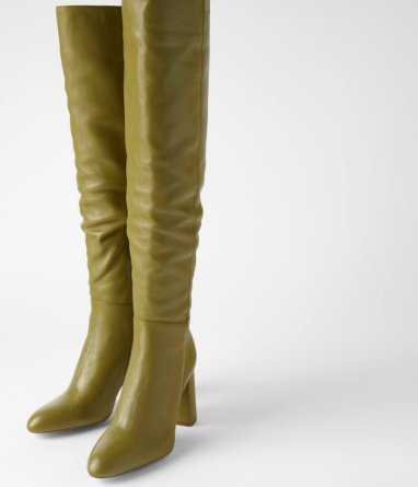 LEATHER HIGH HEEL BOOTS WITH TALL LEG za 14990