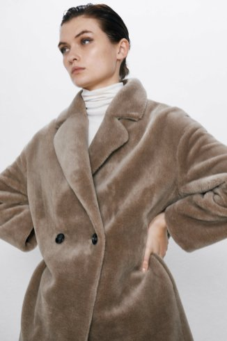 FAUX FUR COAT 8990 za