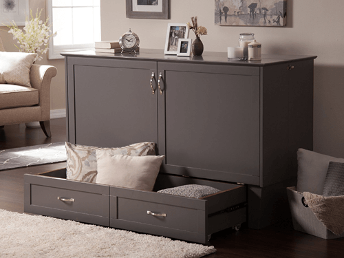 twin size madison murphy bed chest azfs
