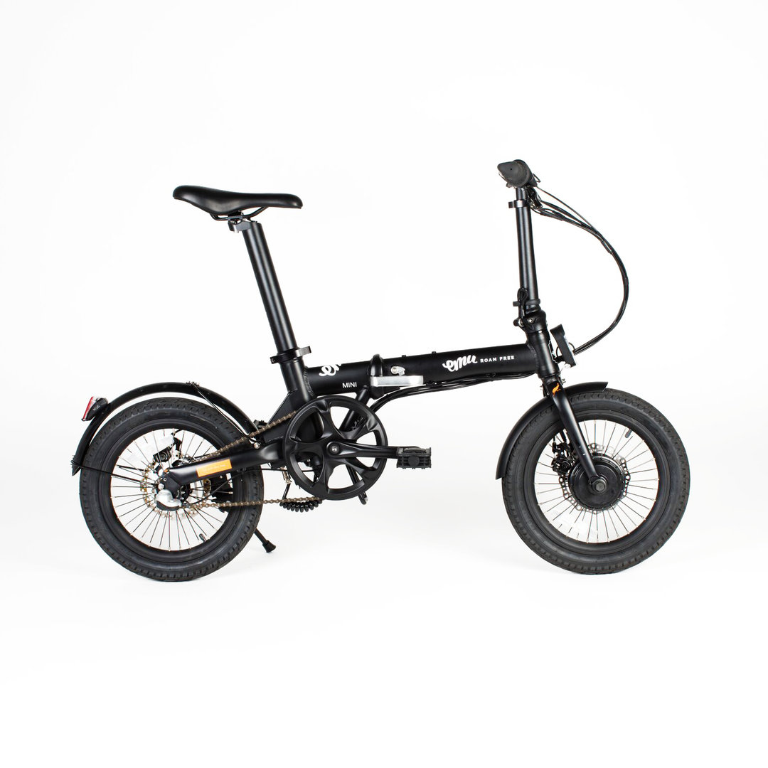 Emu Mini 16 Wheel Folding Bike Black 7ah