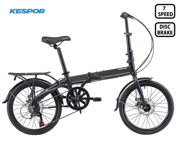 Rear Carry Rack Schwinn Loop Adult Folding Bike 20-inch Wheels Black City New