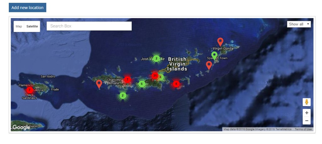 Lionfish tracking map at Lionfish.info