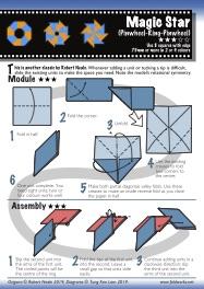 Diagrams for Magic Star (Pinwheel-Ring-Pinwheel) by Robert Neale using a flowing layout
