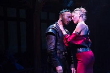 Drew Cortese and Julia Motkya in Richard III. Photo by Teresa Wood.