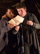 Adam Wesley Brown as Guildenstern and Romell Witherspoon as Rosencrantz in R&G. Photo by Teresa Wood.