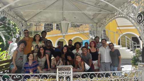 Reunião dos artistas e agentes culturais do interior selecionados com a equipe da FIAC