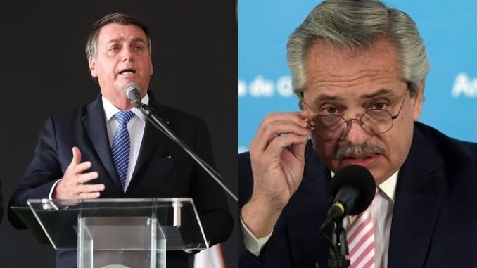 Bolsonaro e Fernandez