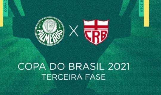 Sorteio define confronto entre CRB e Palmeiras na 3ª fase da Copa do Brasil