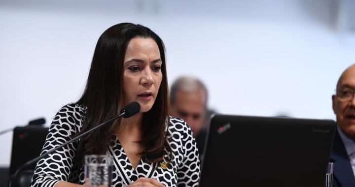Senadora Mailza em sessão no Senado Federa