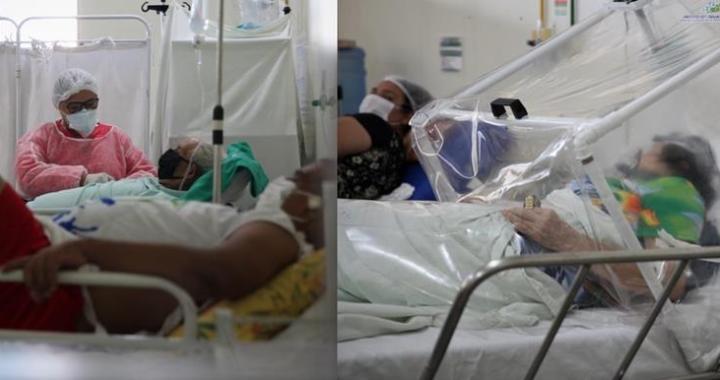 Profissional de Saúde da UPA do Segundo Distrito em trabalho de cuidados a pacientes com Covid-19, nesta quarta-feira, 20; ocupações de leitos estão no limite Foto: Odair Leal/Secom