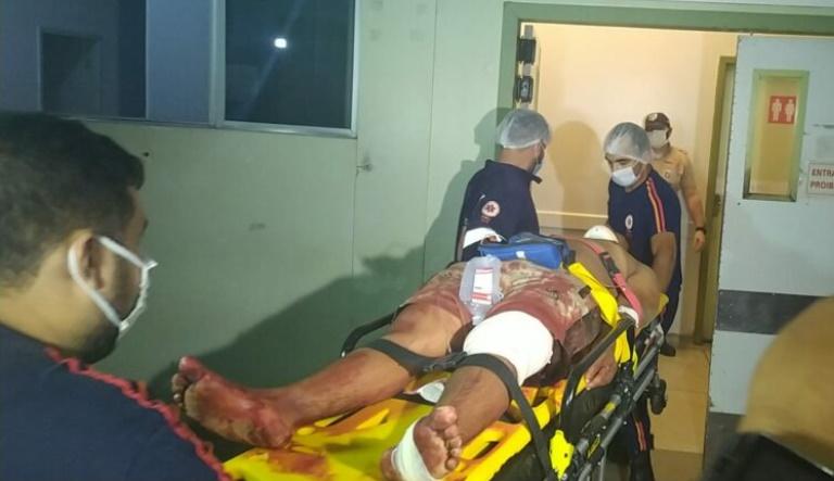 Vítima foi encaminhada ao PS/Foto: Ecos da Notícia