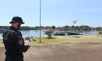 Polícia Federal utiliza drones para fiscalizar crimes eleitorais em Paranaguá