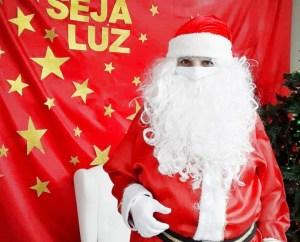 """Papai Noel usa a criatividade no """"Natal da Pandemia"""""""