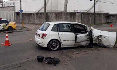 Perseguição policial termina em acidente de trânsito na Bento Rocha