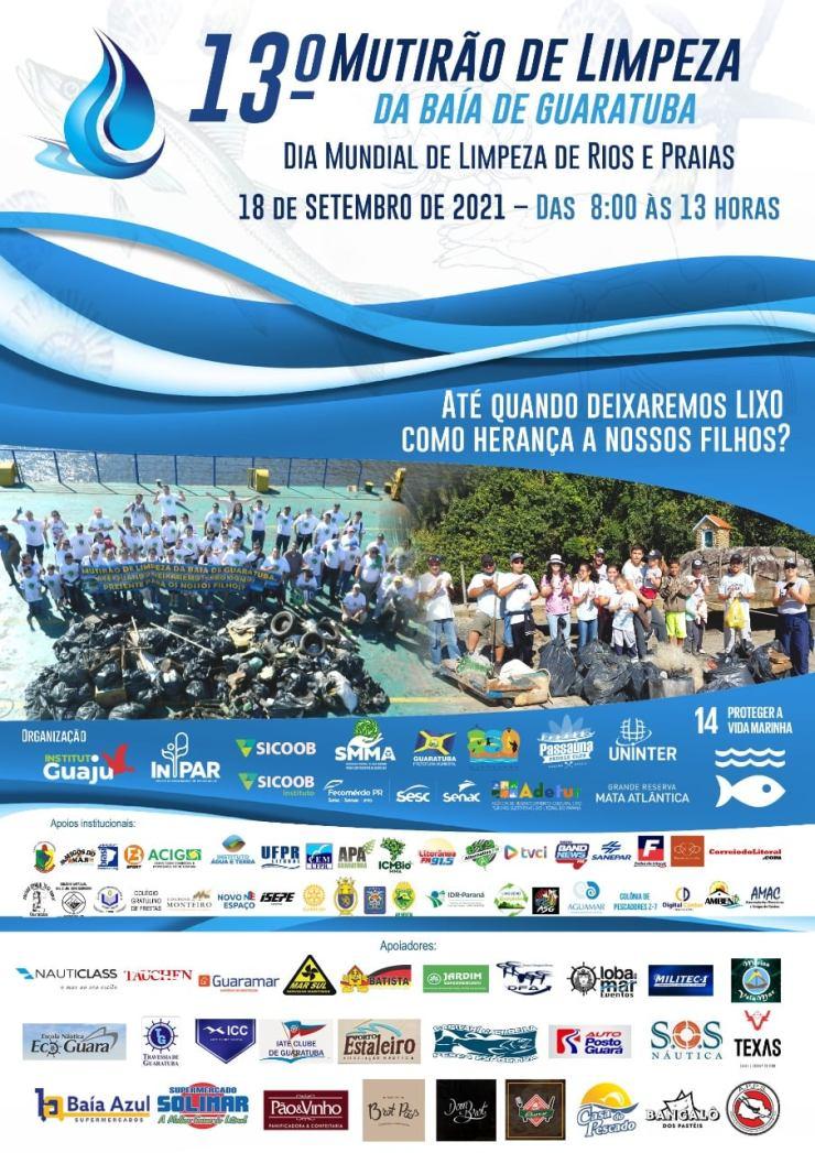 Evento é alusivo ao Dia Mundial de Limpeza de Rios e Praias