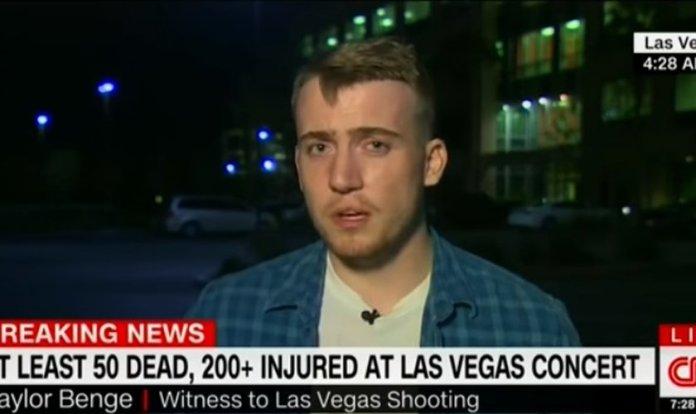 Taylor Benge - sobrevivente do ataque em Las Vegas em 1º de outubro de 2017