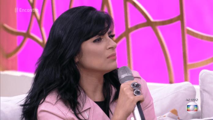 Fernanda Brum no Programa Encontro com Fátima Bernardes na Rede Globo em outubro 2017