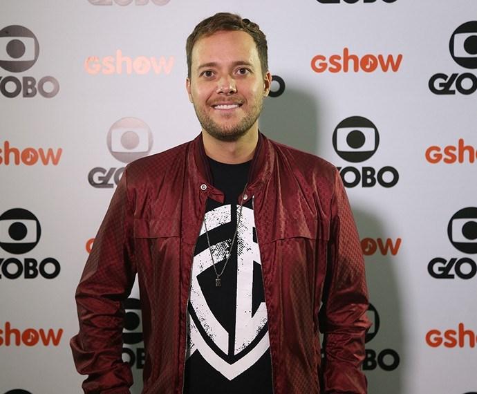 Foto de André Valadão, no fundo imagens da Rede Globo e GShow